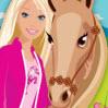 Раскраска Лошадь и Барби