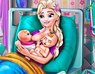 Эльза рожает близнецов