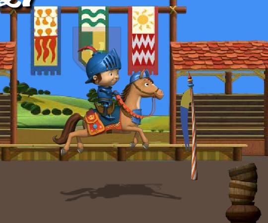 Галахад на лошади