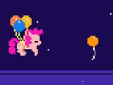 Пинки Пай на воздушных шариках
