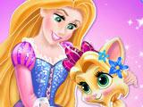 Принцесса Диснея Рапунцель и Котик