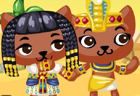 Игра Приключения Кошек в Пирамиде