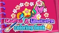Раскраска: Пони и единороги