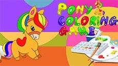 Раскраска: Пони