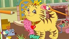 Онлайн раскраска: Кошки